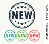 new stamp label badge in gunge... | Shutterstock .eps vector #519341848