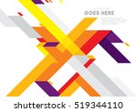 vector of modern abstract... | Shutterstock .eps vector #519344110