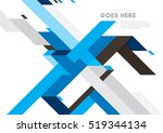vector of modern abstract... | Shutterstock .eps vector #519344134