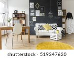 creative living room with... | Shutterstock . vector #519347620