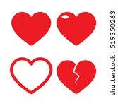 set of heart vector | Shutterstock .eps vector #519350263