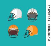 american football white and... | Shutterstock .eps vector #519352528