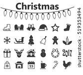 Christmas Icons  Christmas Set...