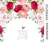 semicircle garland floral frame ... | Shutterstock .eps vector #519353713