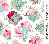 elegant mixed bouquets of... | Shutterstock .eps vector #519353776