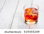 negroni on a wooden board ... | Shutterstock . vector #519355249