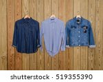 Blue Denim Jean Three Shirt On...