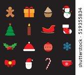 winter  christmas celebrate... | Shutterstock .eps vector #519355834
