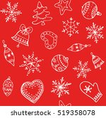 christmas red background.... | Shutterstock .eps vector #519358078