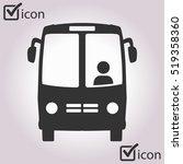 bus icon. schoolbus simbol. | Shutterstock .eps vector #519358360