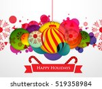 happy holidays background  new... | Shutterstock .eps vector #519358984