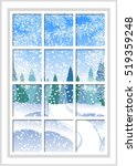winter christmas window with a... | Shutterstock .eps vector #519359248
