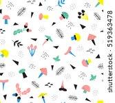 vector  seamless pattern... | Shutterstock .eps vector #519363478