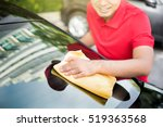 auto service staff cleaning car ... | Shutterstock . vector #519363568