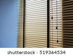 window blinds wood. | Shutterstock . vector #519364534