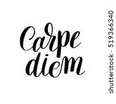 carpe diem hand written... | Shutterstock .eps vector #519366340