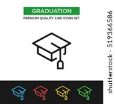vector graduation icon.... | Shutterstock .eps vector #519366586