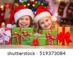 Two Little Girls With Presents...