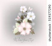 vector background with flowers...   Shutterstock .eps vector #519377290