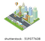 eco city design. sustainable ... | Shutterstock .eps vector #519377638