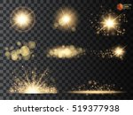 set. shining star  the sun... | Shutterstock .eps vector #519377938