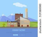 ecology factory web banner. eco ... | Shutterstock .eps vector #519380080