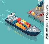 cargo port vector illustration. ... | Shutterstock .eps vector #519380548