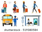 hipster man frightened by... | Shutterstock .eps vector #519380584