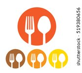 fork and spoon icon | Shutterstock .eps vector #519380656