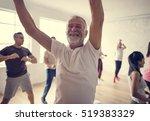 diversity people exercise class ... | Shutterstock . vector #519383329