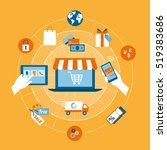 online shopping  e payment ... | Shutterstock .eps vector #519383686