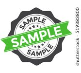 sample stamp vector over a... | Shutterstock .eps vector #519383800