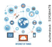 internet of things  devices and ... | Shutterstock .eps vector #519384478