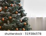 beautiful holdiay decorated... | Shutterstock . vector #519386578