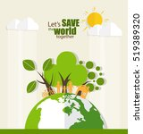 eco friendly. ecology concept... | Shutterstock .eps vector #519389320