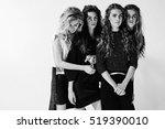 girl posing for a fashion... | Shutterstock . vector #519390010