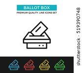vector ballot box icon. voting  ... | Shutterstock .eps vector #519390748