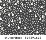 seamless pattern with christmas ... | Shutterstock .eps vector #519391618