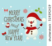 christmas greeting card with... | Shutterstock .eps vector #519392419
