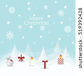 christmas greeting card.... | Shutterstock .eps vector #519392428
