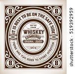 retro whiskey label. vector | Shutterstock .eps vector #519392959