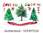vector artistic watercolor... | Shutterstock .eps vector #519397210