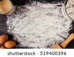 baking background. baking... | Shutterstock . vector #519400396