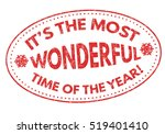 it's the most wonderful time of ... | Shutterstock .eps vector #519401410