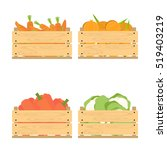 vector crate with fresh fruits... | Shutterstock .eps vector #519403219