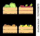 vector crate with fresh fruits... | Shutterstock .eps vector #519403870