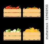 vector crate with fresh fruits... | Shutterstock .eps vector #519403933