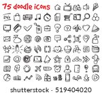 vector doodle icons set. stock... | Shutterstock .eps vector #519404020