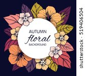 autumn floral design with... | Shutterstock .eps vector #519406504