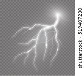 realistic vector lightning  on... | Shutterstock .eps vector #519407230